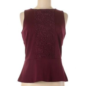NWT BANANA REPUBLIC Lace Peplum Sleeveless Blouse
